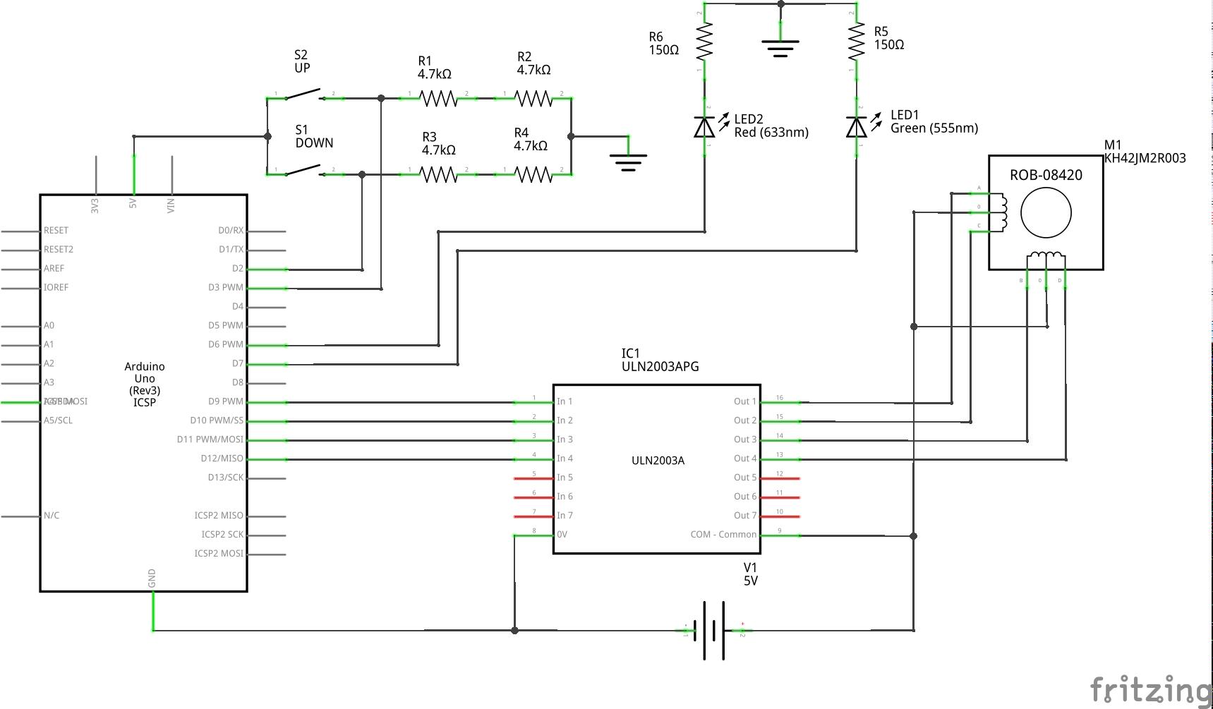 test_motor_4_ULN2003APG_schemă
